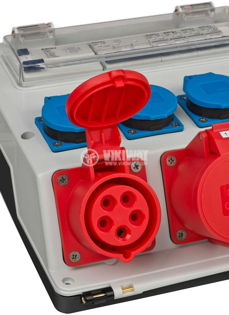 Portable power distributor, Brennenstuhl, WV 4/32 A, IP44, waterproof, 1154890020 - 5