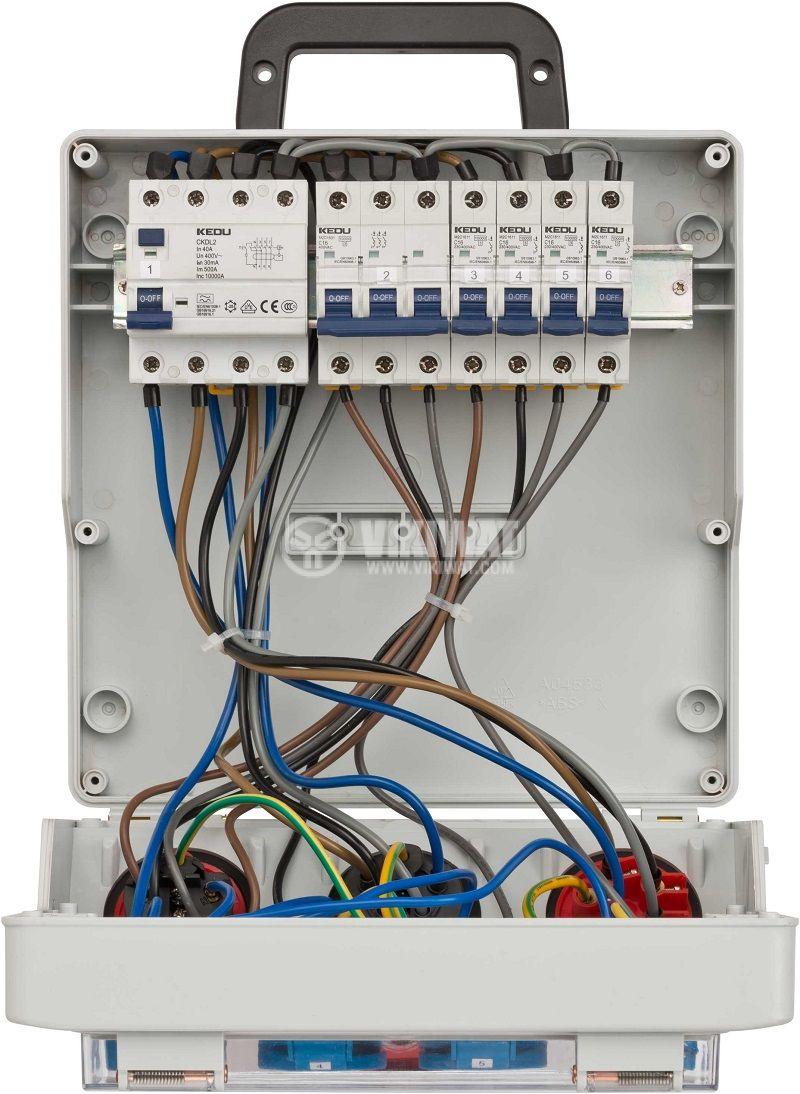 Подвижно разпределително табло с предпазители, WV 4/32 A, Brennenstuhl, IP44, влагозащитено, 1154890020 - 7