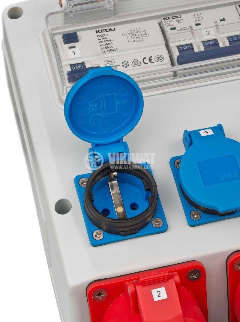 Portable power distributor, Brennenstuhl, WV 4/32 A, IP44, waterproof, 1154890020 - 4