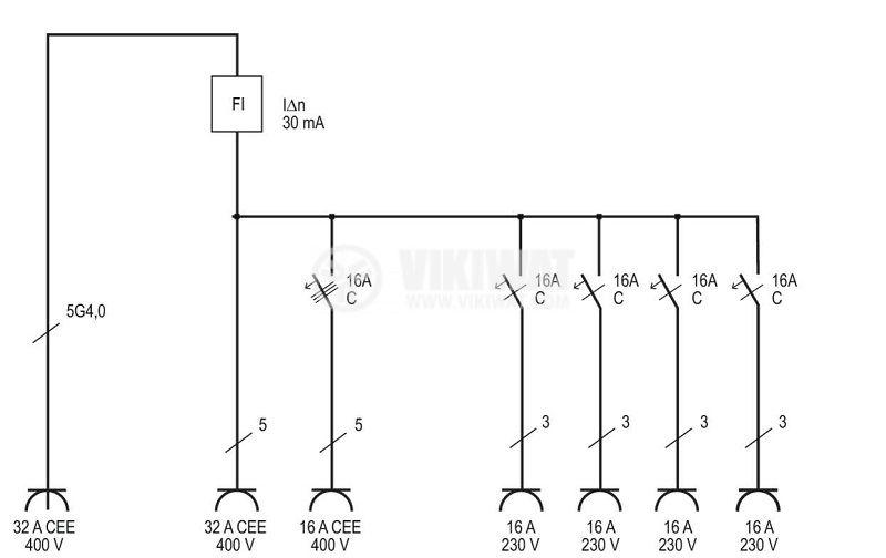 Подвижно разпределително табло с предпазители, WV 4/32 A, Brennenstuhl, IP44, влагозащитено, 1154890020 - 8