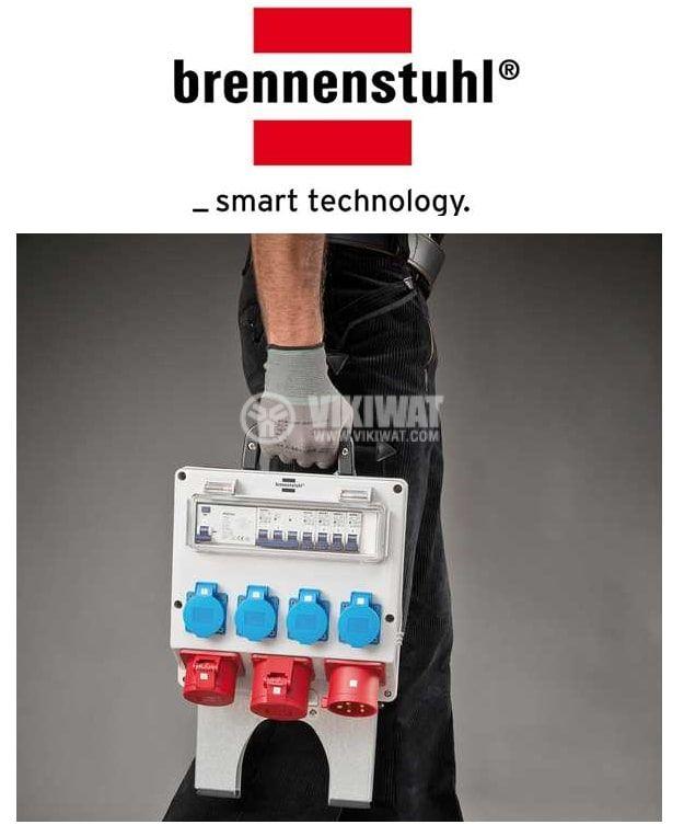 Portable power distributor, Brennenstuhl, WV 4/32 A, IP44, waterproof, 1154890020 - 2