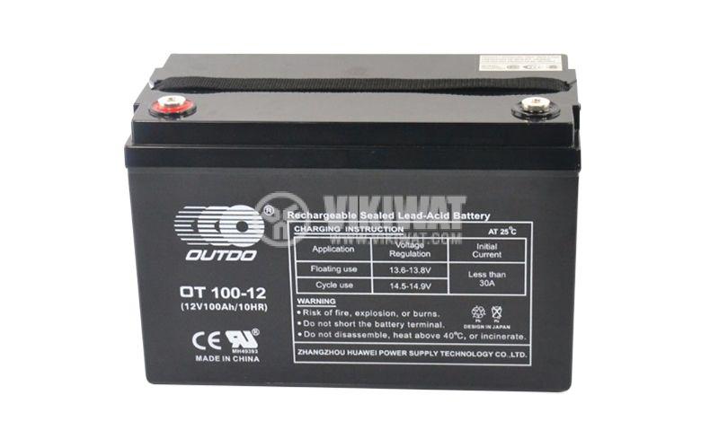 Тягов акумулатор, 12V, 100Ah, OT100-12 - 2