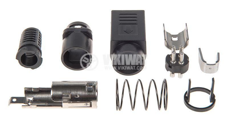 Plug, 4 pin, male, soldering - 3