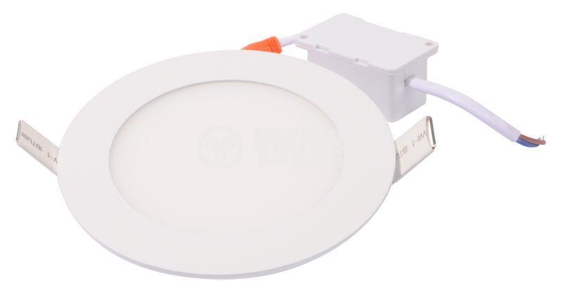 LED панел за вграждане 6W, 220VAC, 380lm, 3000K, топло бял, ф120mm, BP01-30600 - 4