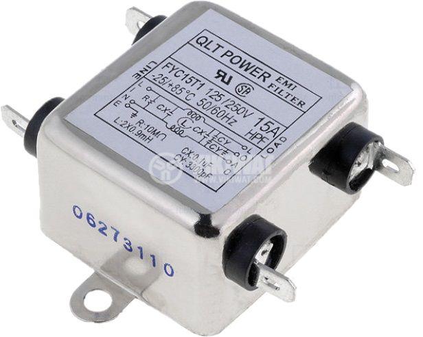 Филтър кондензатор QLT POWER FYC15T1 0.9mH 250V 10MOhm