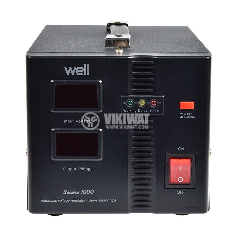 Стабилизатор на напрежение AVR-SRV-SECURE1000-WL - 1