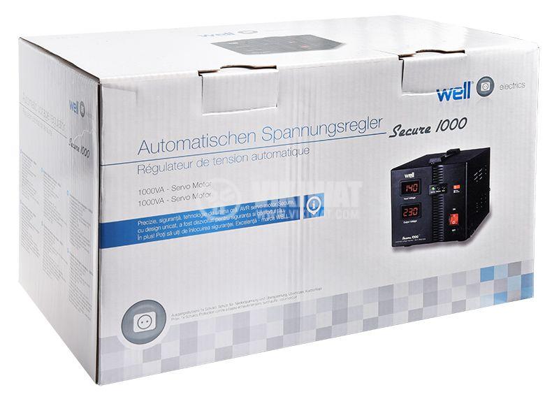 Стабилизатор на напрежение AVR-SRV-SECURE1000-WL 1000VA 230VAC серво мотор - 4