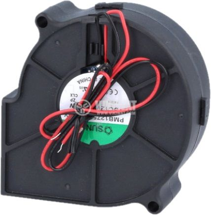 Вентилатор 12VDC, 75x75x30mm със сачмен лагер, 20.91m³/h, безчетков - 3