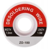 Desoldering wire ZD-180, 1.5mm x 1.5m