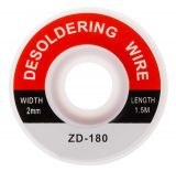 Desoldering wire ZD-180, 2mm x 1.5m