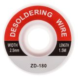 Desoldering wire ZD-180, 2.5mm x 1.5m