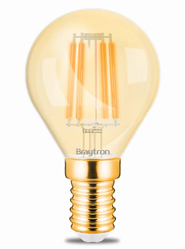 LED лампа FILAMENT 4W, E14, 230VAC, 360lm, 2200K, топлo бяла, BB37-00410 - 1
