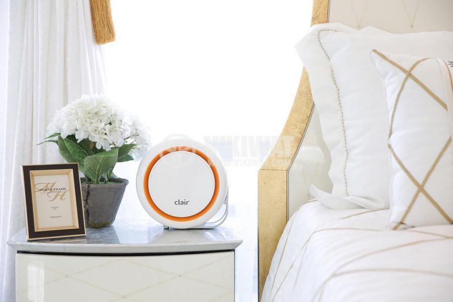 Дизайнерски пречиствател на въздух с филтър против прах, вируси и бактерии, 2.4W консумация - 3