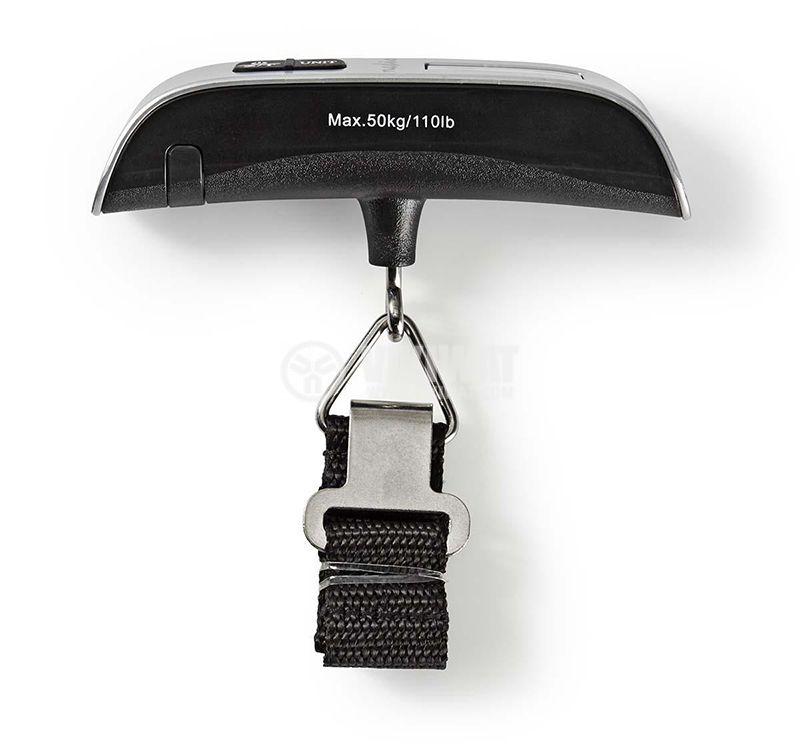 Преносима цифрова везна за багаж, 50 kg, термометър - 1