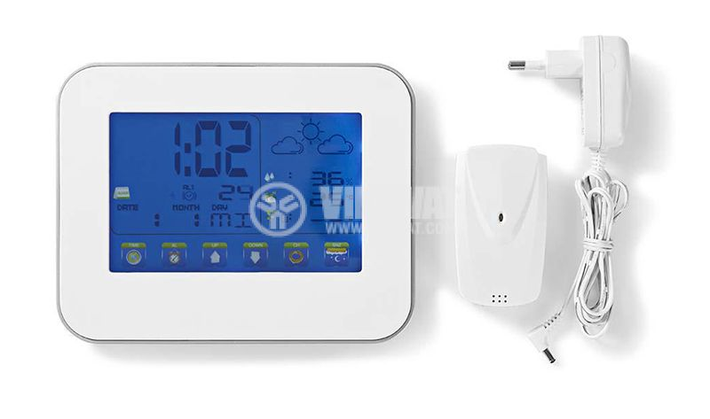 Метеостанция с часовник календар аларма - 2
