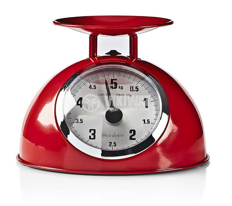 Analogue kitchen scales red - 2