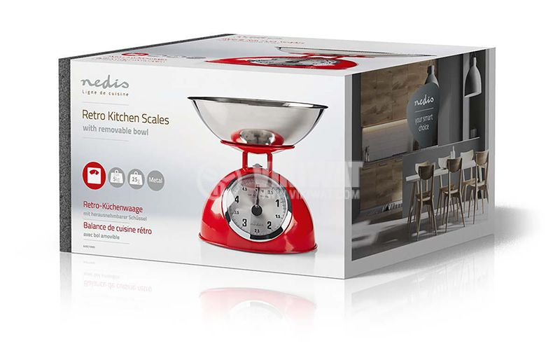 Retro kitchen scale 5kg 25g - 4