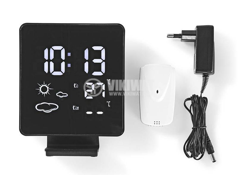 Weather station with thermometer hygrometer clock alarm calendar backlight - 6