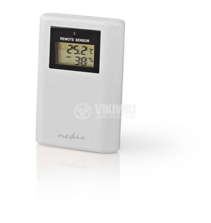 Метеостанция WEST204WT вътрешна и външна температура -50~70°C дисплей - 6