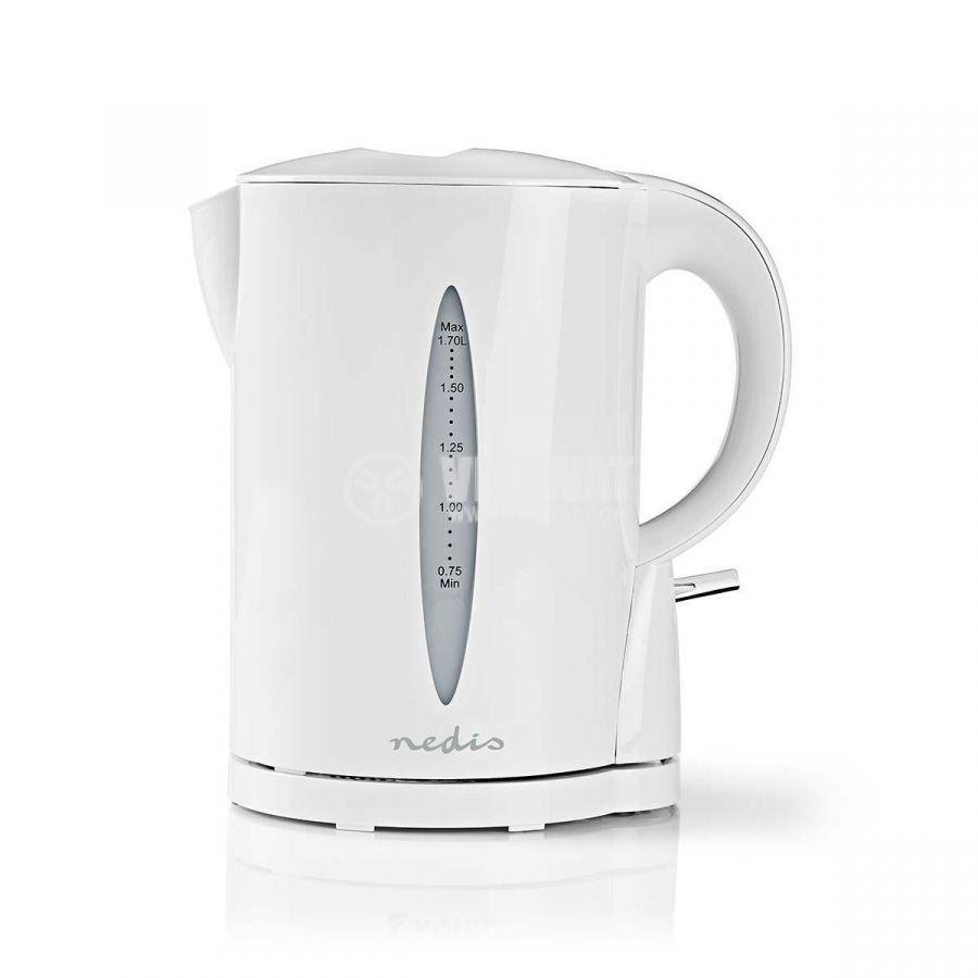 Electric kettle, 1.7l, 2200W, 230VAC, white - 1