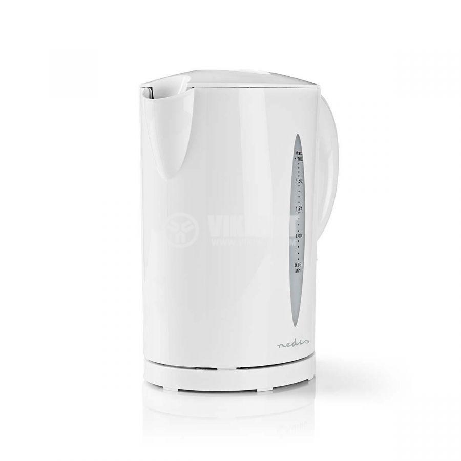 Electric kettle, 1.7l, 2200W, 230VAC, white - 5