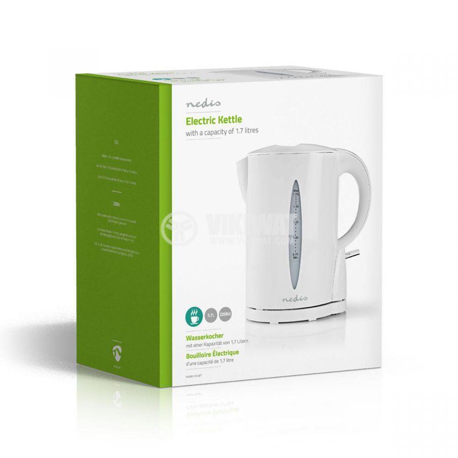 Electric kettle, 1.7l, 2200W, 230VAC, white, KAWK110EWT - 6