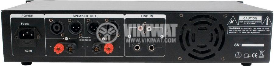 Усилвател крайно стъпало PA-AMP20000-KN 2 канала 2x165W-8Ohm 2x300W-4Ohm 2x3.5mm RCA - 2