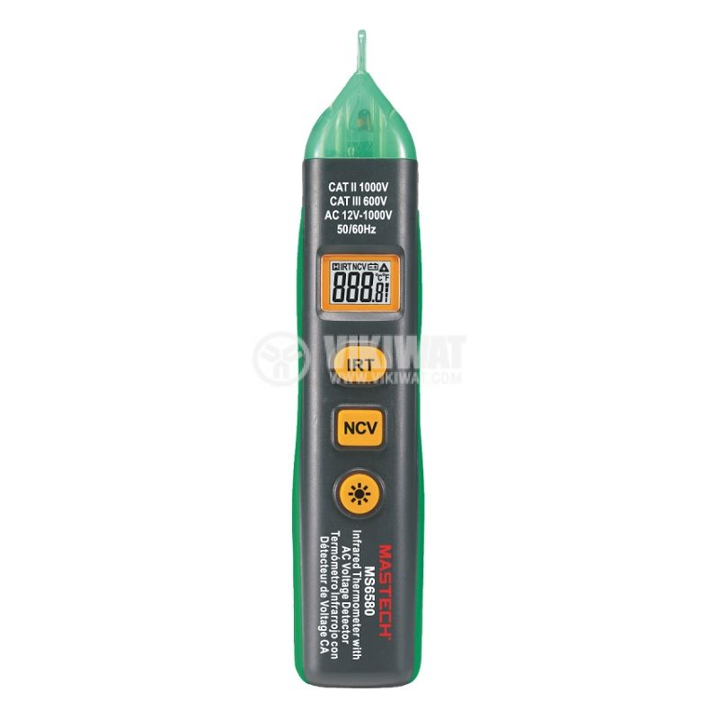 Contactless phase meter with infrared thermometer MS6580B - 1