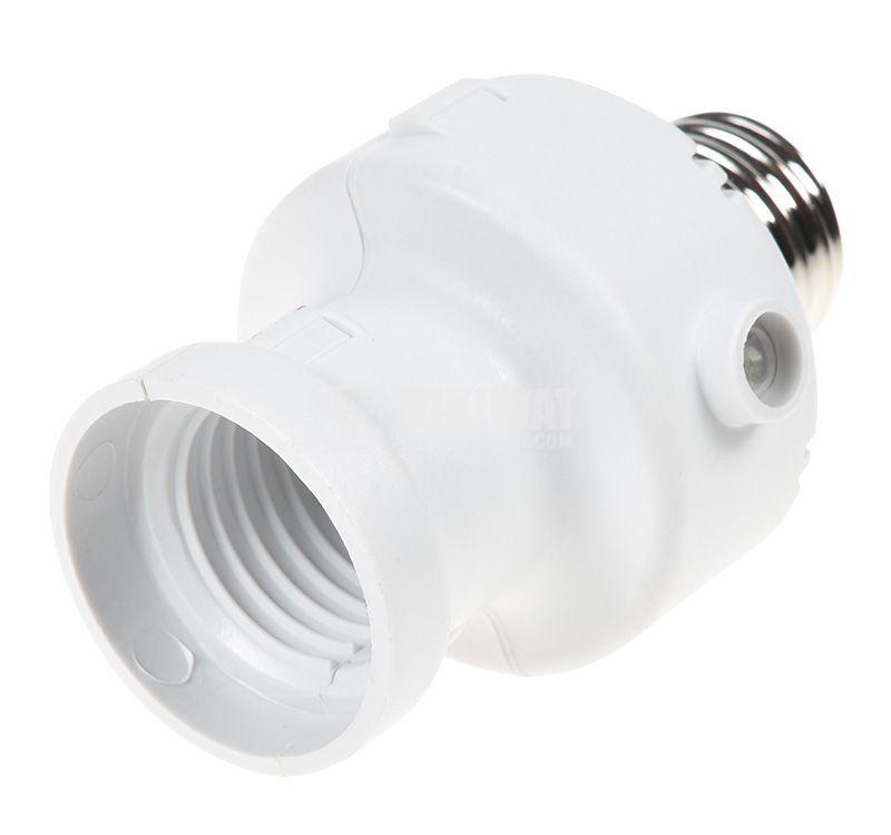 Фасунга SR1320, 360°, E27, бялa, с фотоклетка  - 3