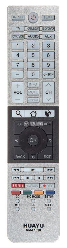 Remote control for TV toshiba RM-L1328 - 1