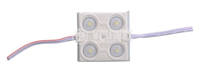 LED module, 4LED, 2.4W, 12VDC, waterproof, cold white