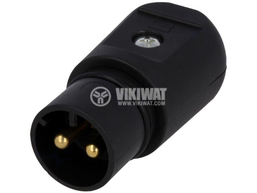 AC plug two-pole WT-SELV-12VAC 16A black