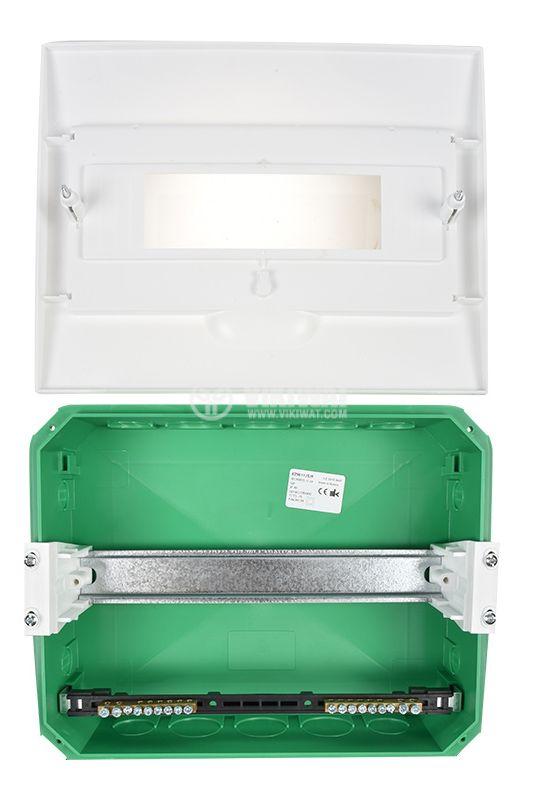 Апартаментно табло, EZ9E112S2F, 12 модула, Easy9, SCHNEIDER, за вграждане, бял цвят  - 6