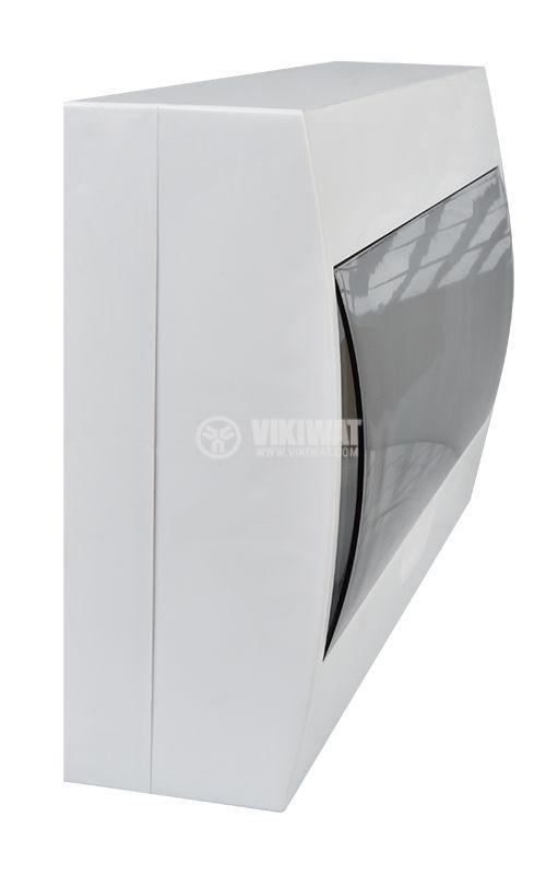 Distribution box 18, Easy9, SCHNEIDER, surface mounting, white, EZ9E118S2S  - 6