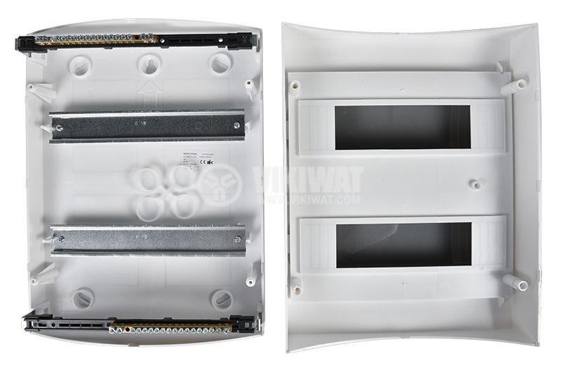 Апартаментно табло 2x12 модула, Easy9, SCHNEIDER, за външен монтаж, бял цвят, EZ9E212S2S  - 6