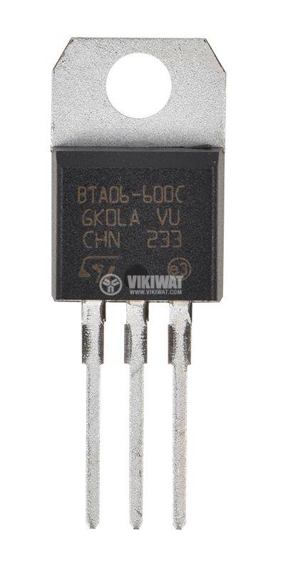 Триак BTA06-600C 600V 6A TO220AB 50mA THT - 1