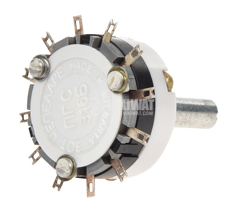 Ротационен превключвател (Галета), ПГС316Б, 1 секция, 5 позиции - 3