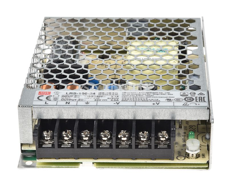 Switch power supply unit 4.5A/24VDC, 108W, IP20, LRS-100-24 