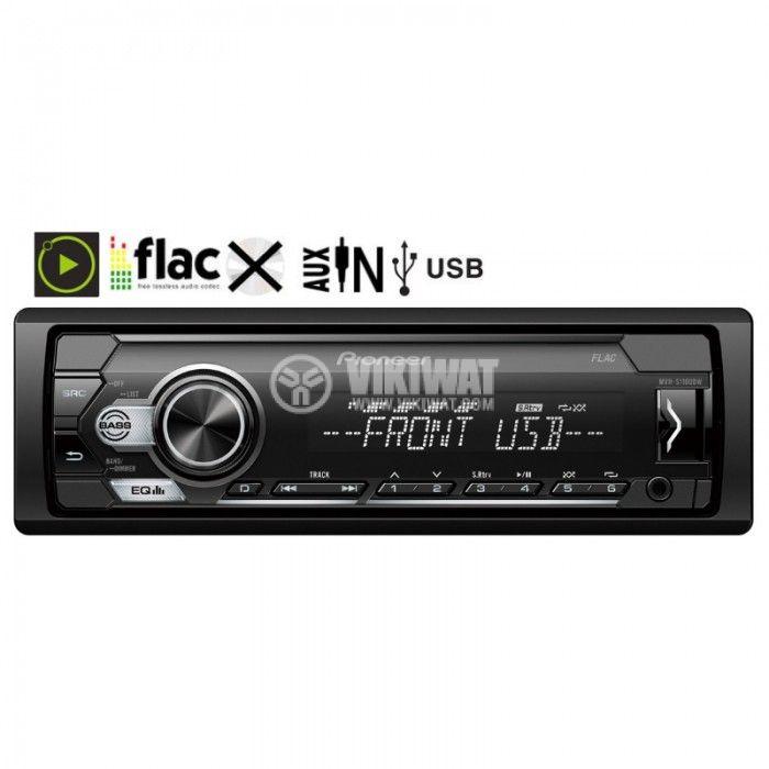 Автомобилно радио Pioneer MVH-S110UBW 4x50W USB AUX  - 2