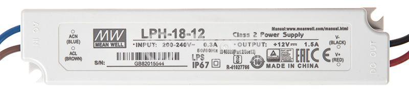 Импулсно захранване 1.5A/12V 18W LPH-18-12 постоянно напрежение - 1