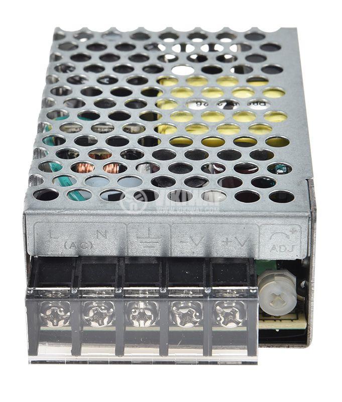 Импулсно захранване 12VDC, 2.1A, 25.2W, невлагозащитен - 2