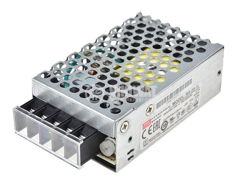 Импулсно захранване 12VDC, 2.1A, 25.2W, невлагозащитен - 3