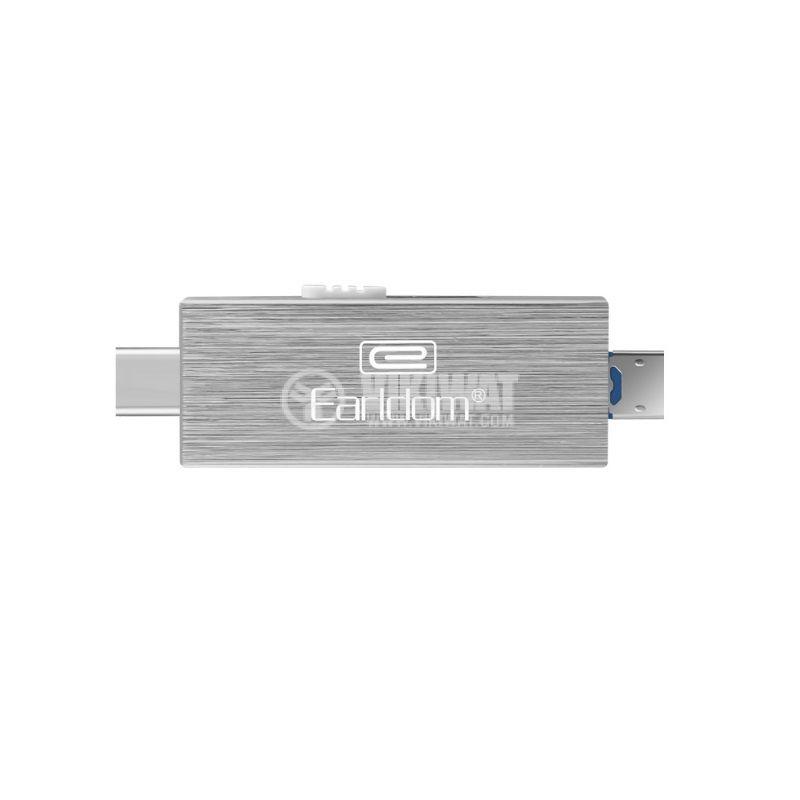 Четец за Micro SD карти, ET-OT24, USB, Micro USB, Type-C, OTG - 1