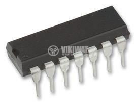 Интегрална схема 74S38, TTL серия S, QUADRUPLE 2-INPUT POSITIVE-NAND BUFFERS WITH OPEN-COLLECTOR OUTPUTS, DIP14 - 1