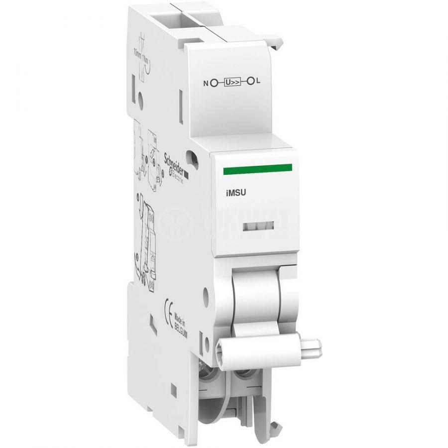 Максимално напреженов изключвател A9A26500, iMSU, 1P+N, 230VAC, iC60 - 1