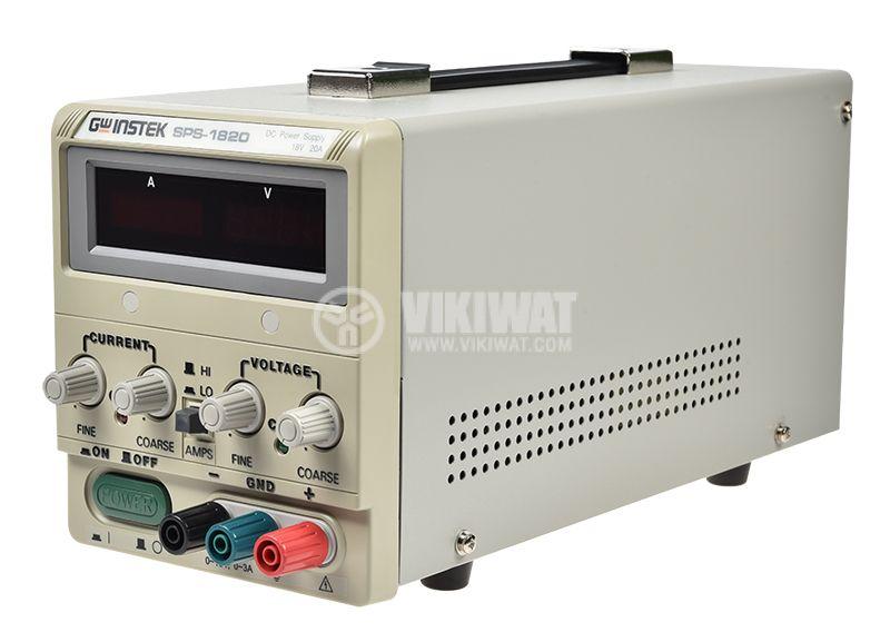 Лабораторно захранване импулсно SPS-1820 1 канал 20A/18VDC - 1