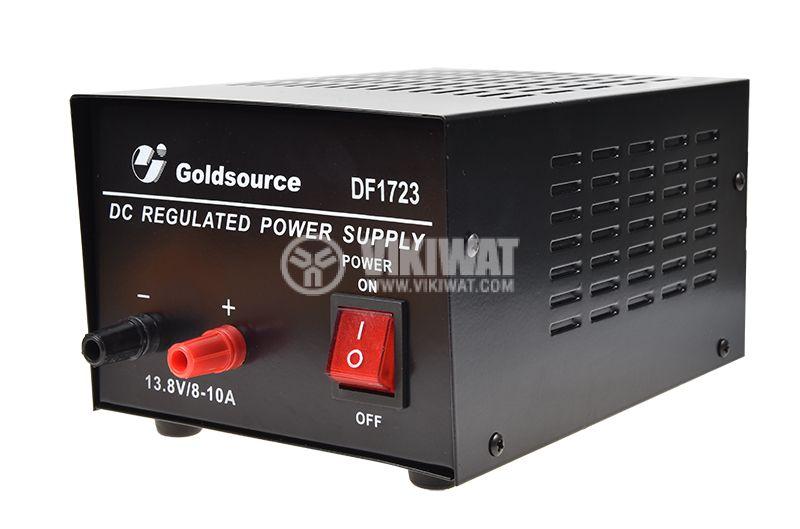 Захранващ блок стабилизиран DF 1723 220V 13.8V 10A - 1