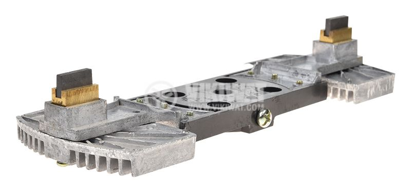 Двоен четкодържател с четки, размери 235 x 80 x 42 mm - 1