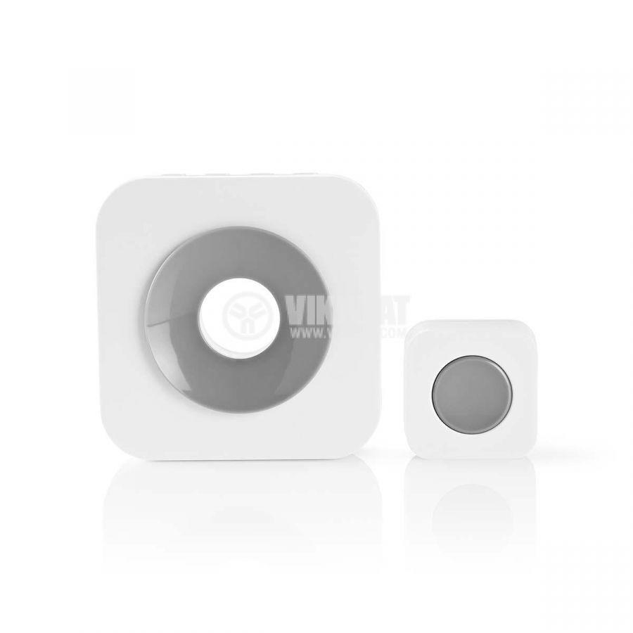 Wireless Doorbell Set, DOORB112WT, 3VDC, 90dB, 150m. white - 1
