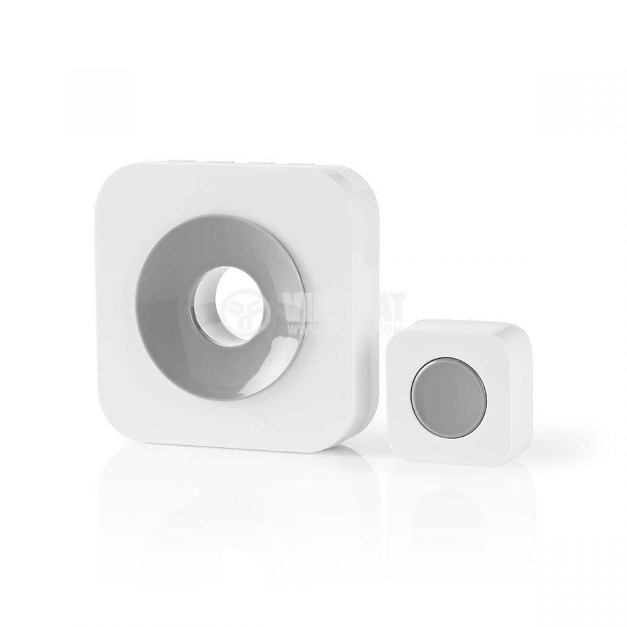Wireless Doorbell Set, DOORB112WT, 3VDC, 90dB - 3